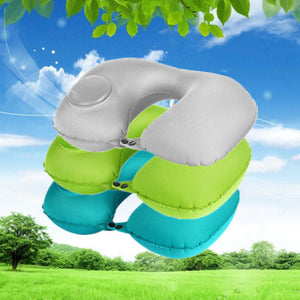 Multifunctional portable pressed U-shaped pillow
