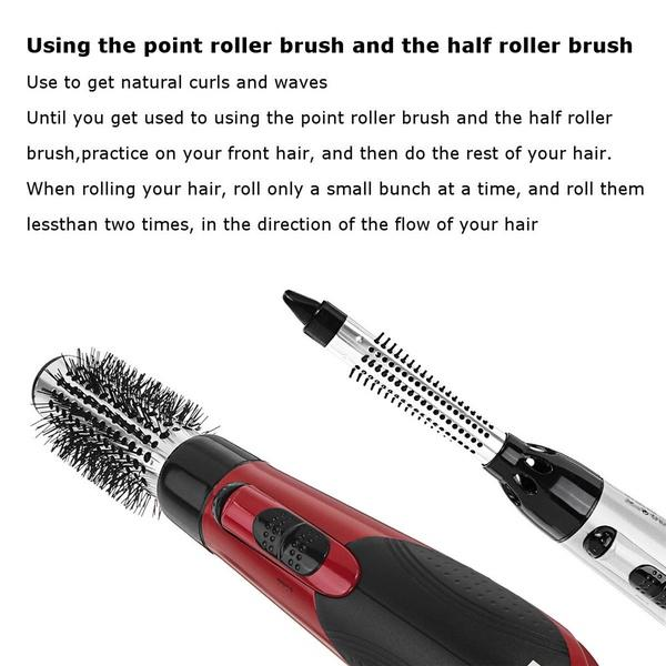 7 in 1 Ceramic Hair Dryer Rotating Curling Iron Brush(Buy 1 get 6 brush free)