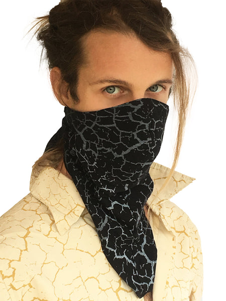 Dust Mask Playa Print - Burning Man Face Mask - Black/White