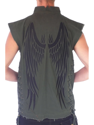 Mens Winged Vest - Green