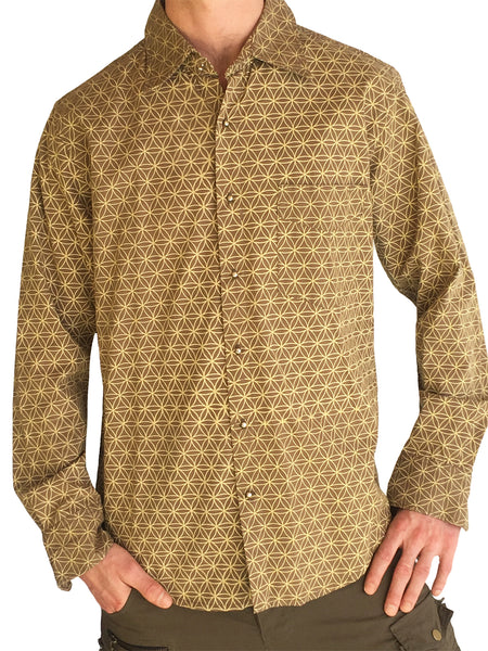 Mens Flower of Life Dress Shirt