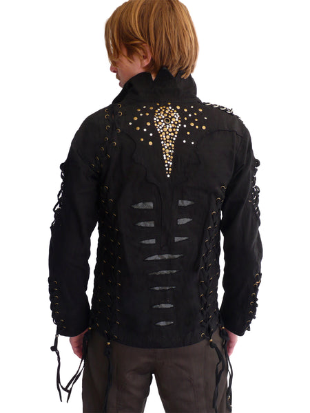 Mens Studded Rocker Jacket - Black
