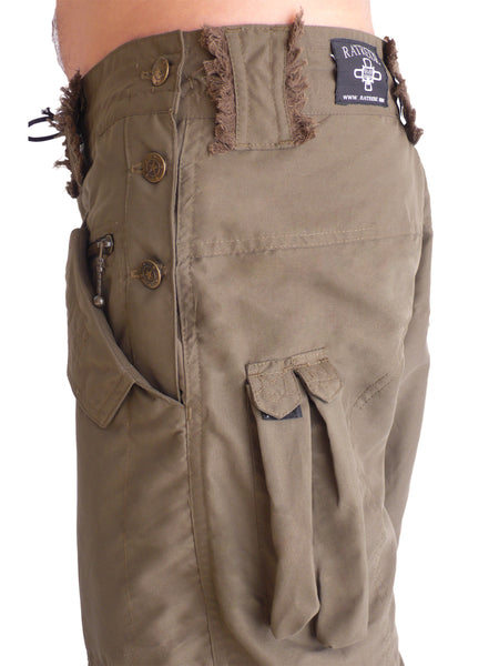 Mens Chillum Microfiber Shorts - Brown/ Olive