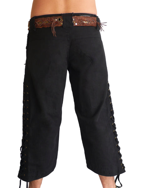 Mens Wild West Canvas Shorts
