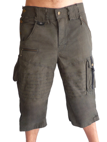 Mens Drop Canvas Shorts - Grey
