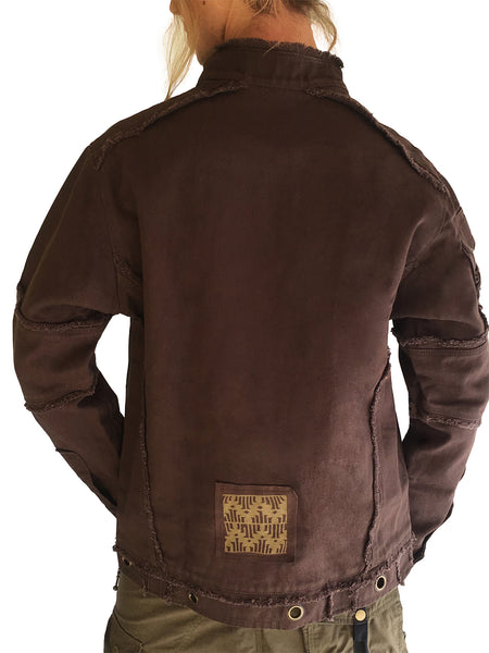 Mens Urban Canvas Jacket Stonewashed- Brown