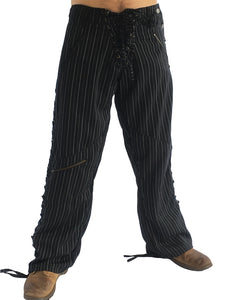 Mens Wild West Pants - Pinstripe - Wool Pashmina
