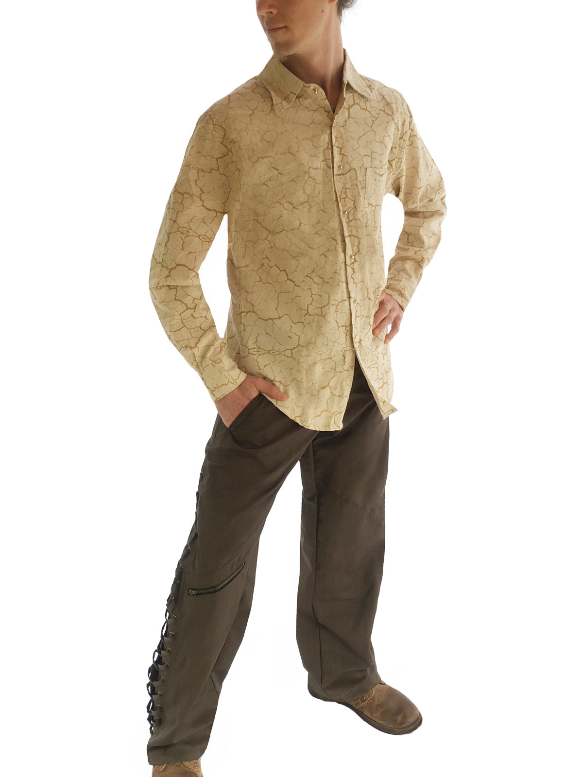 Mens Wild West Pants - Wool Pashmina