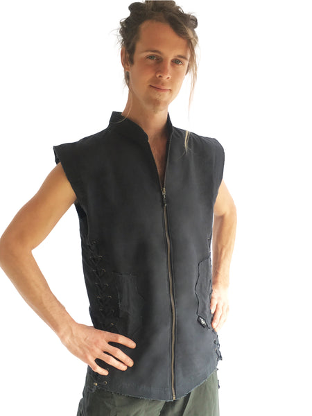 Mens Winged Vest - Dark Grey