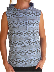 Mens Navajo Sleeveless Cotton Hoodie