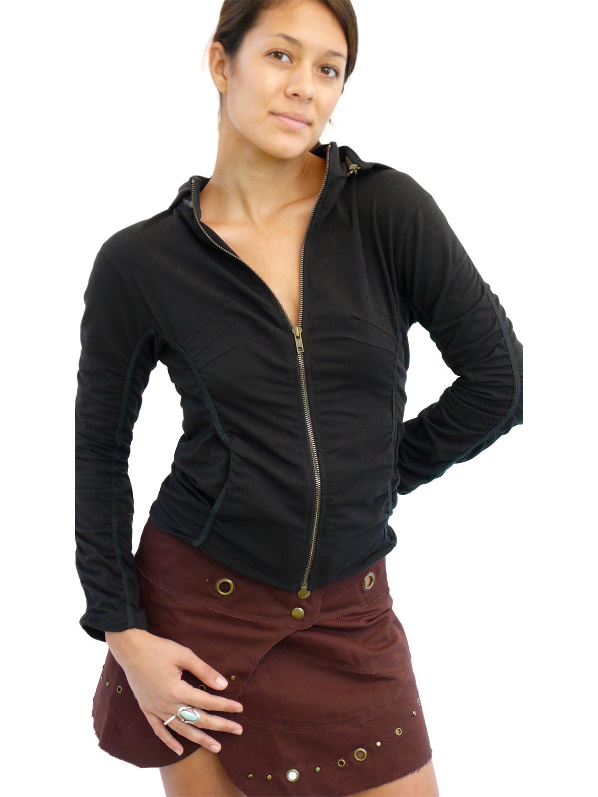 Womens Sweater Zip off Hood