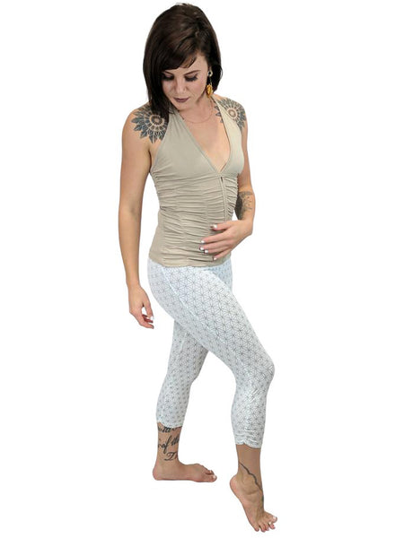 Womens Sacred Geometry Capri Leggings