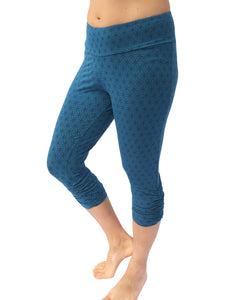 Womens Flower of Life Capri Leggings