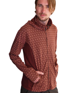 Mens Flower of Life Cotton Hoodie