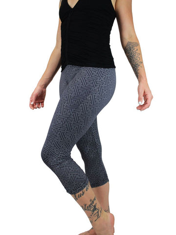 Womens Hindu Swastika Capri Leggings