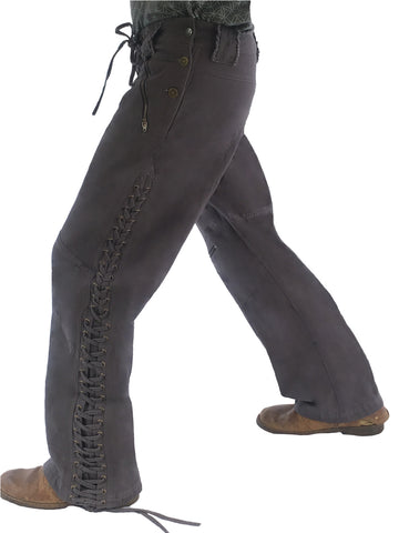 Mens Wild West Canvas Pants - Grey