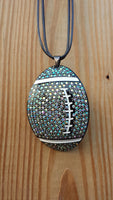 Rhinestone Chunky Football Necklace