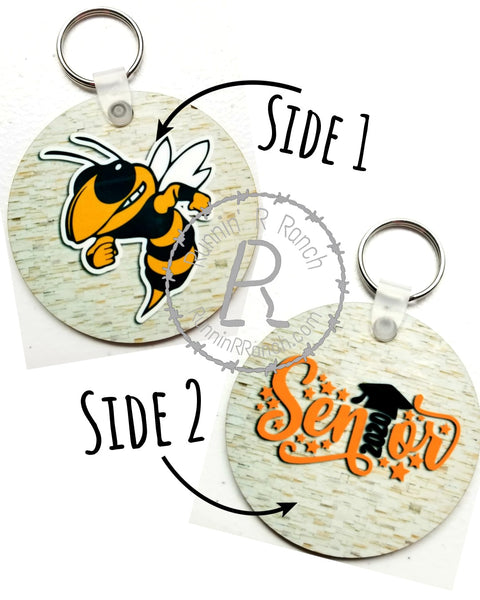 Hornet Senior 2020 Double Sided Keychain