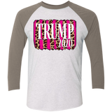 Trump 2020 Hot Pink and Leopard Raglan