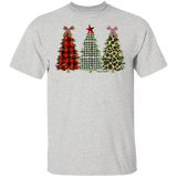 Printed Christmas Trees Gildan 5.3 oz. 100% Cotton T-Shirt