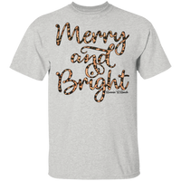 Merry and Bright Leopard G500 Gildan 5.3 oz. T-Shirt