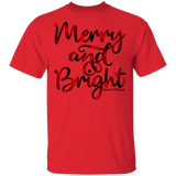 Merry and Bright Buffalo Plaid G500 Gildan 5.3 oz. T-Shirt
