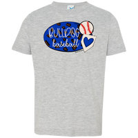 Bulldog Baseball Toddler Jersey T-Shirt