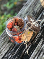 Essential Oil Spiced Pumpkin Mix in Jars