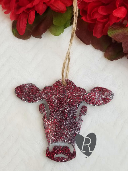 Cow Head Christmas Ornament