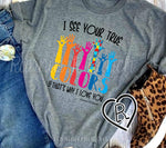I See Your True Colors Autism Awareness Tee