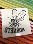 Hornets with mascot tattoo