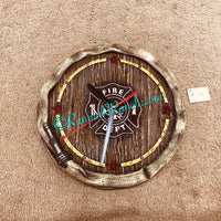 Fire Hose Resin Wall Clock
