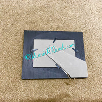 Turquoise Wood Cross Resin Picture Frame