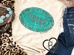 Turquoise Texas Belt Buckle Tee