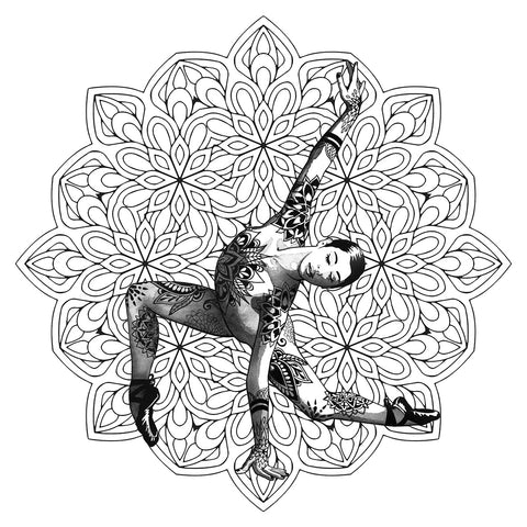 Mandala Dancer Art Print