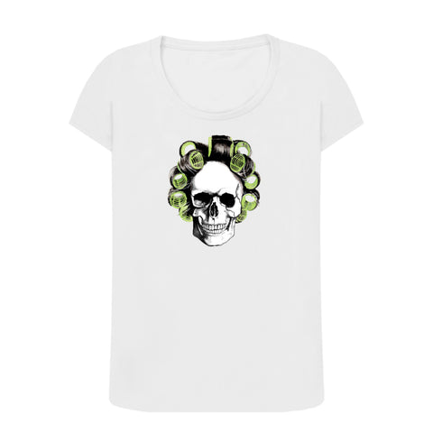 Skull Curlers Ladies T-shirt