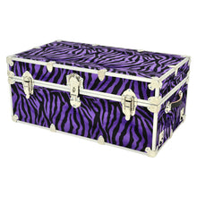 "Load image into Gallery viewer, XL Zebra Trunk - 34"" x 20"" x 15"""