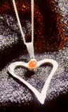 Open heart with carnelian stone