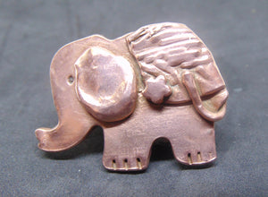 Copper Elephant Brooch