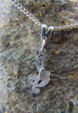 Sterling silver treble cleft pendant with heart