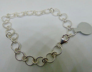 Fancy Link Sterling Silver Bracelet