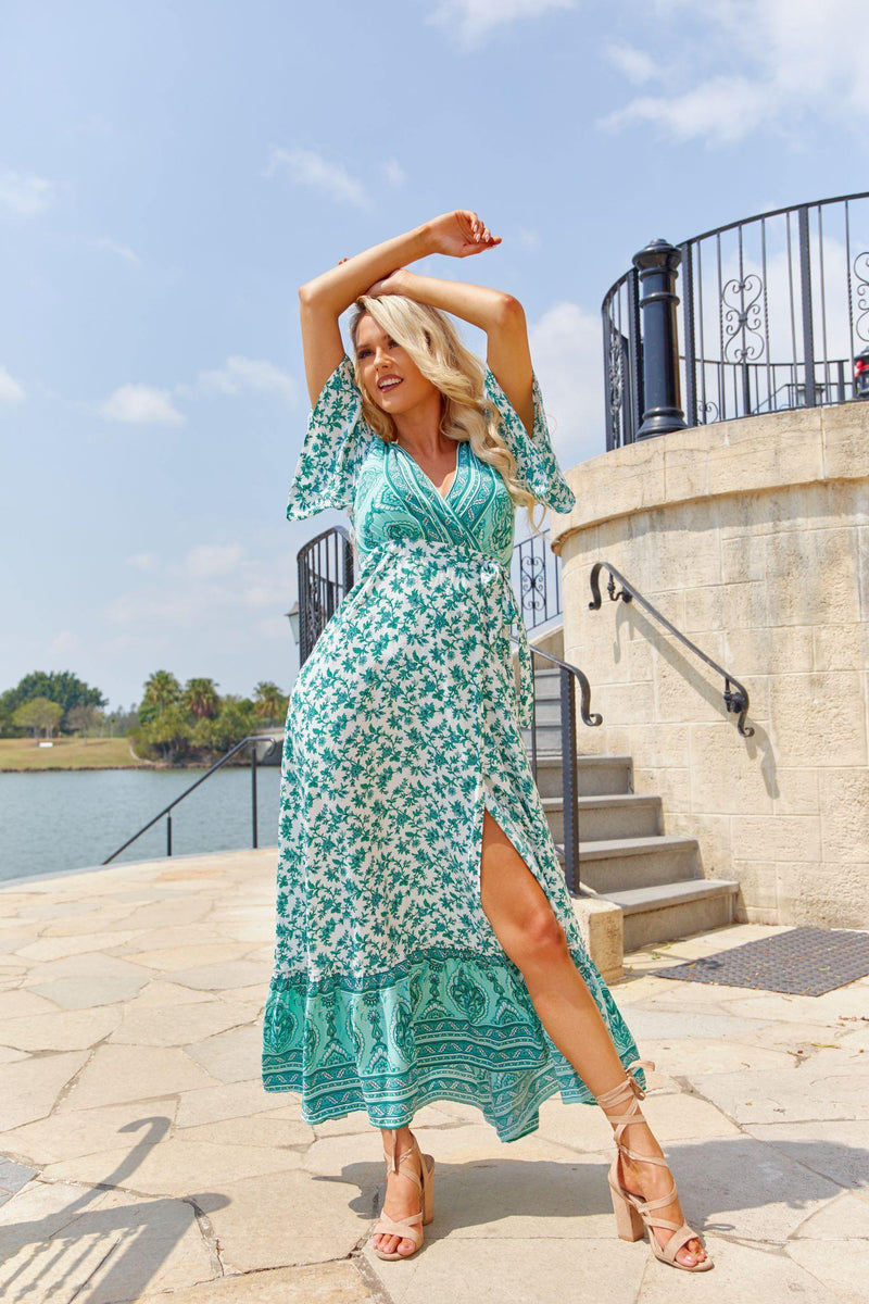 The Maria Maxi Wrap Dress