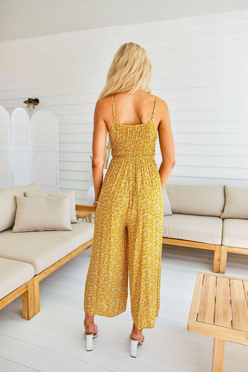 The Jordan Jumpsuit – Mustard