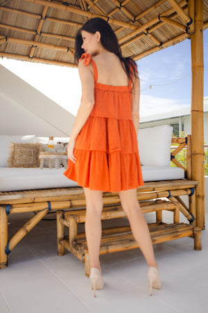 The Spencer Dress - Burnt Orange