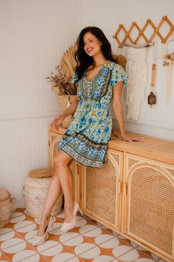 The Nala Dress - Byron Blue