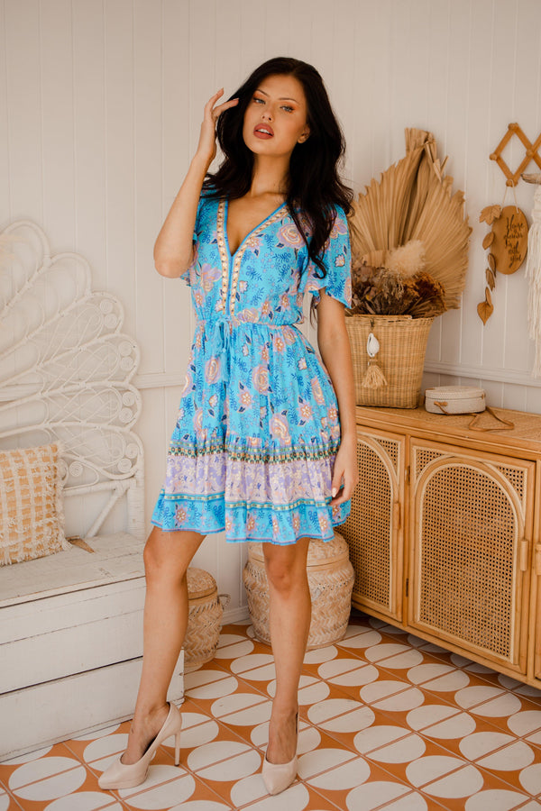 The Jasmina Dress - French Blue