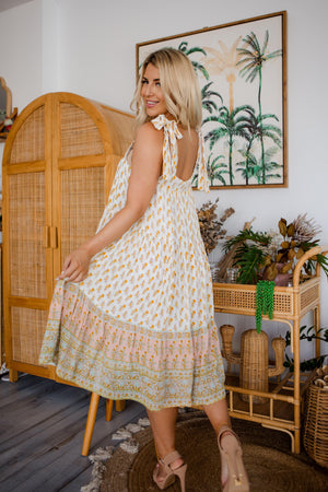 The Lydia Dress - Indian Floral