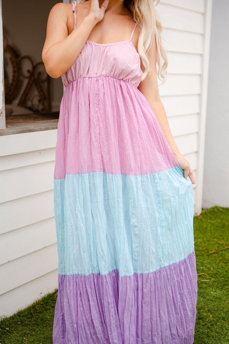 The Heidi Dress - Pink Ombre