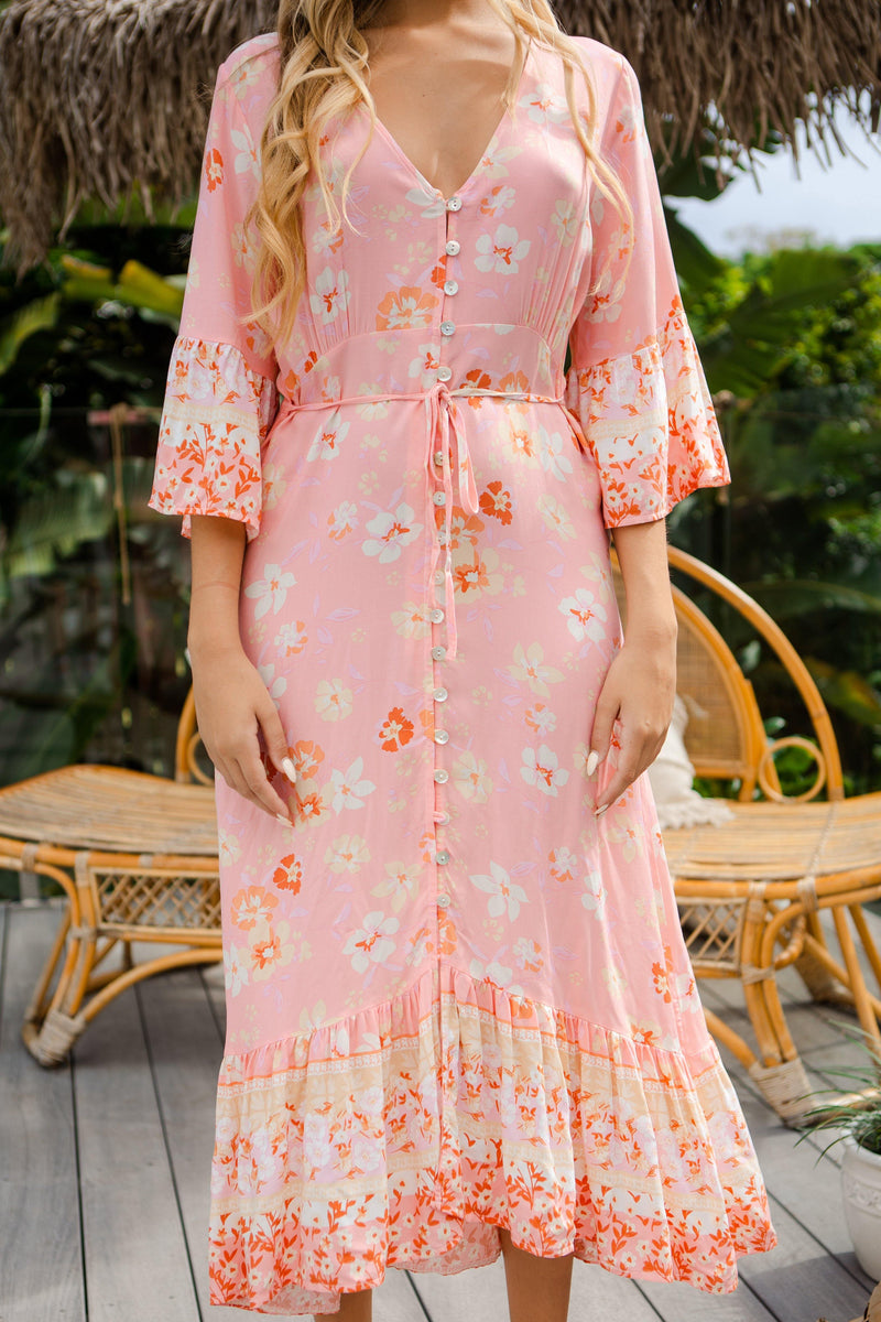 The Ida Dress - Pink Taffy
