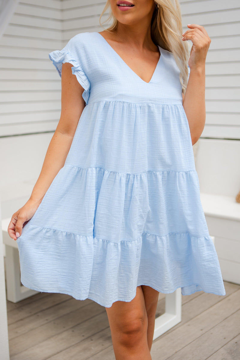 The Elford Dress -  Baby Blue